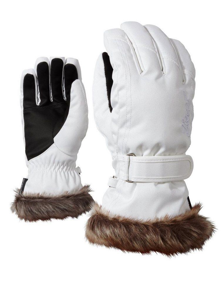Ziener Handschuh »KIM lady glove « in white