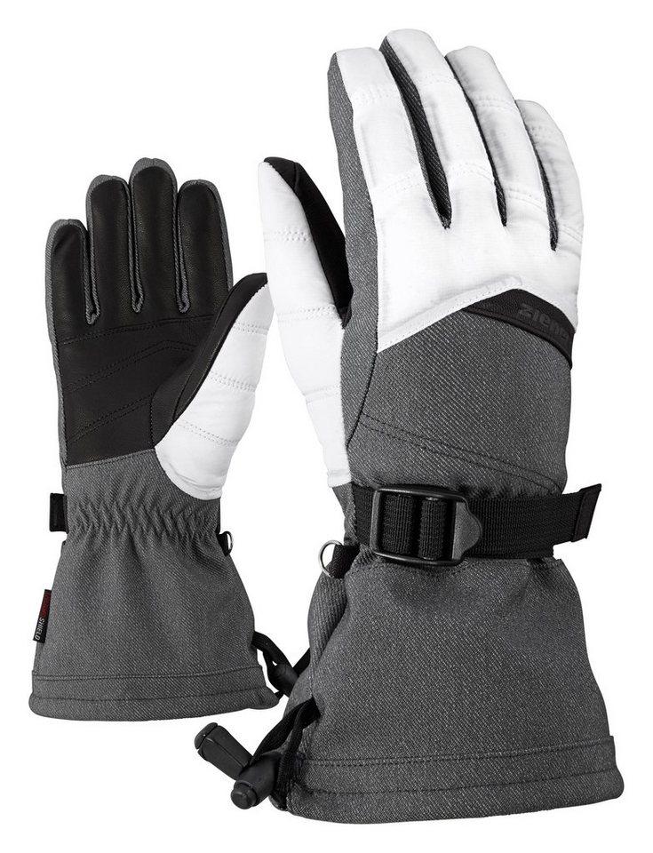 Ziener Handschuh »KLEANNA AS(R) lady glove « in grey denim