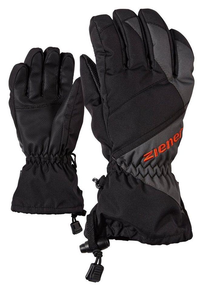 Ziener Handschuh »AGIL AS(R) glove junior« in black/graphite