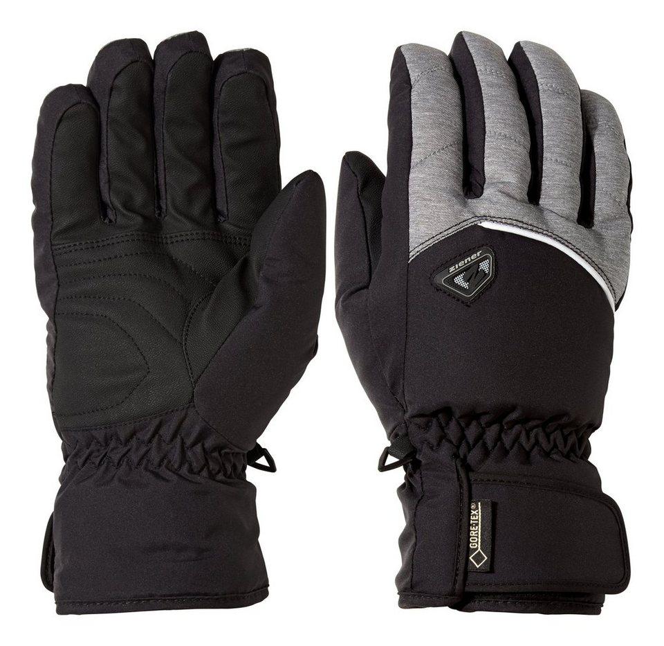 Ziener Handschuh »GLARN GTX(R)+Gore warm glove ski al« in dark melange
