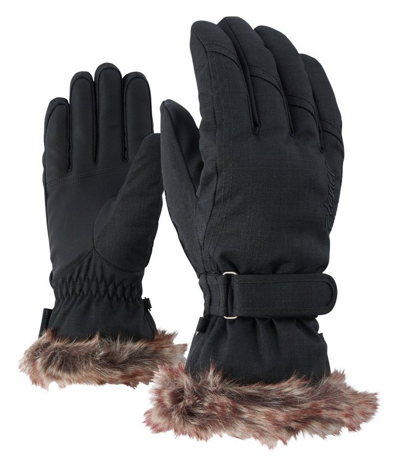 Ziener Handschuh »KIM lady glove « in black-stru