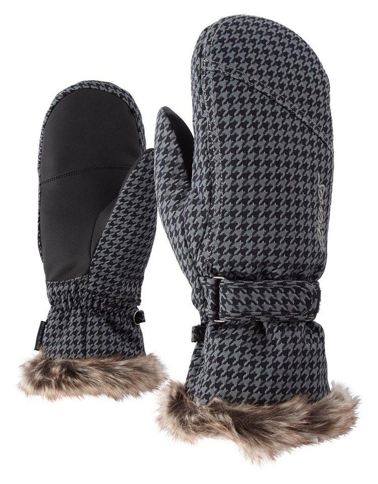 Ziener Handschuh »KEM MITTEN lady glove « in grey pepita