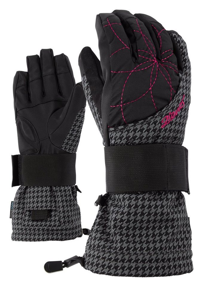 Ziener Handschuh »MARYVILLE AS(R) LADY glove SB« in grey pepita