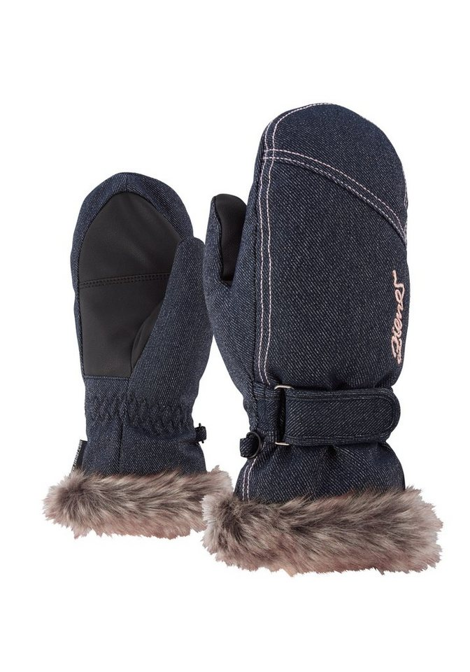 Ziener Handschuh »LED MITTEN GIRLS glove junior« in denim