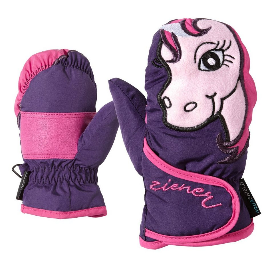 Ziener Handschuh »LAFAUNA AS(R) MINIS glove« in dark purple