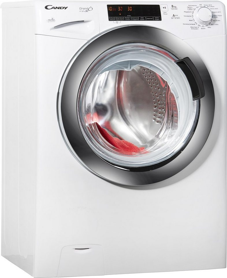 Candy Waschmaschine GSF 138TWC3, A+++, 8 kg, 1300 U/Min in weiß