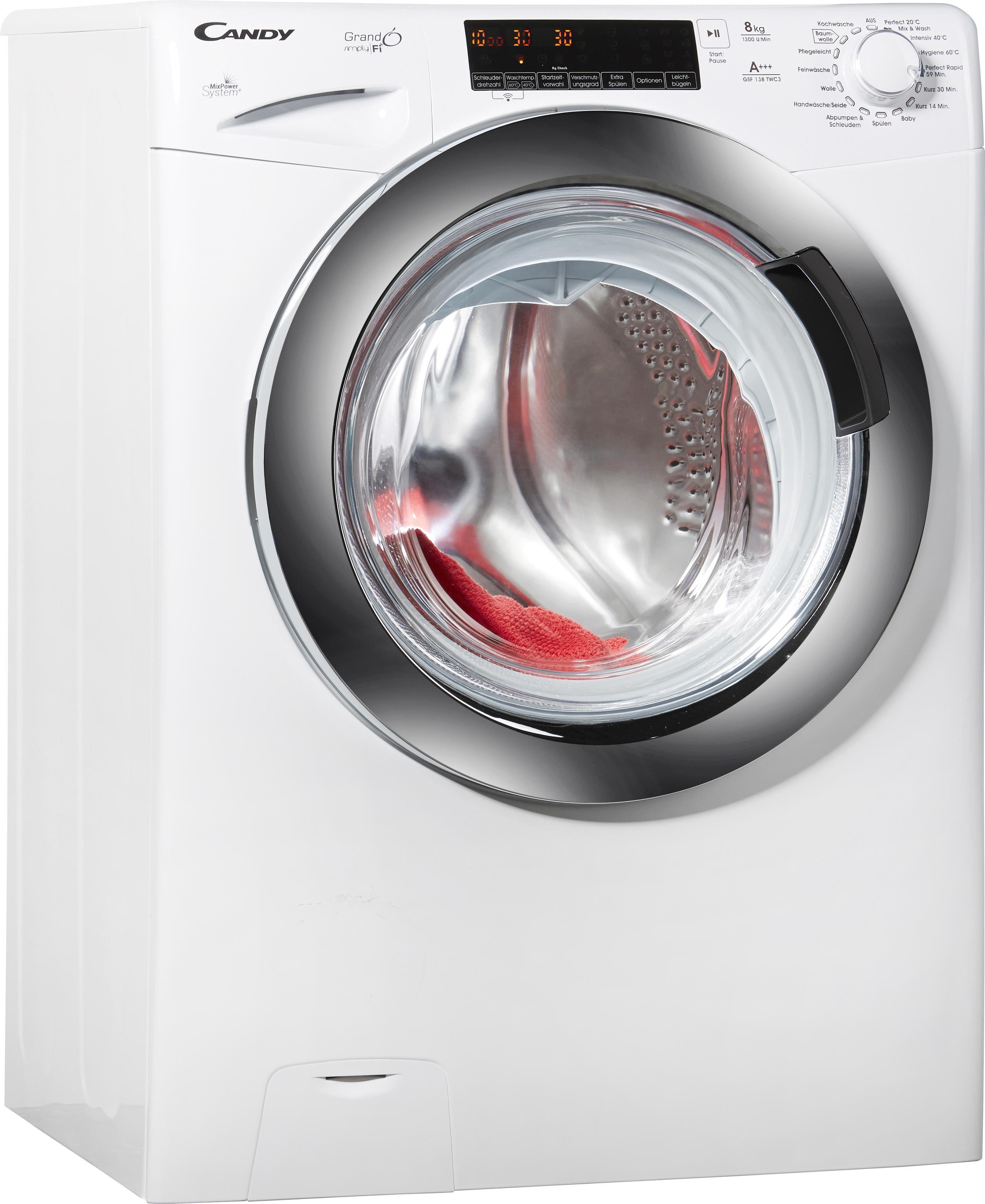 Candy Waschmaschine GSF 138TWC3, A+++, 8 kg, 1300 U/Min