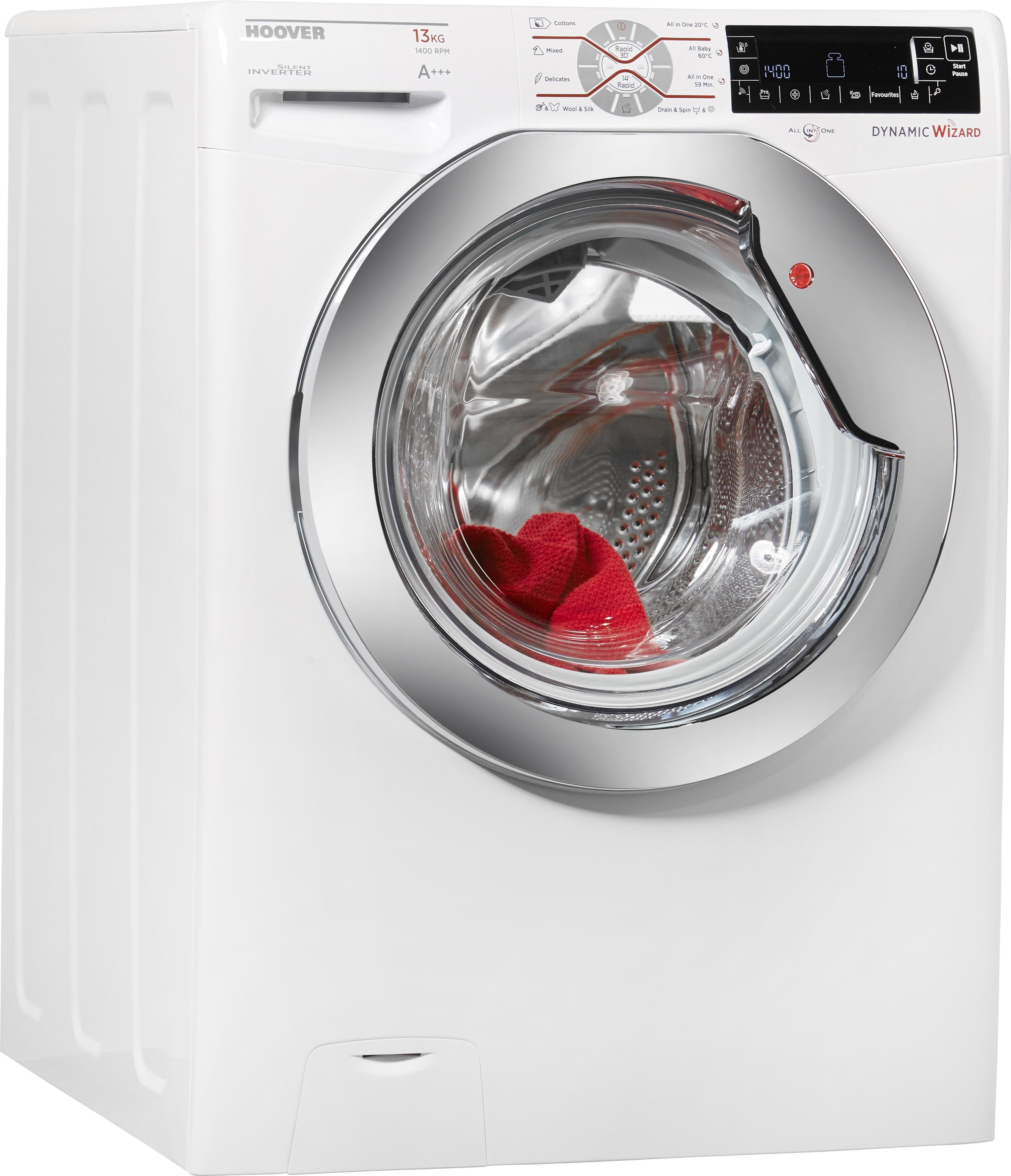 Hoover Waschmaschine DWT 413 AH, A+++, 13 kg, 1400 U/Min