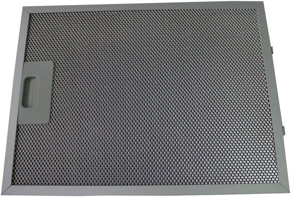 Ersatz-Aluminium-Fettfilter für ausgewählte Haube, 33,9x25,7 cm, 2er-Set in silberfarben