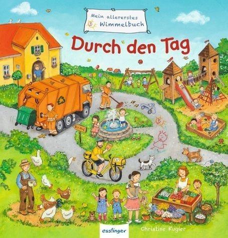 Buch mit Papp-Einband »Mein allererstes Wimmelbuch - Durch den Tag«