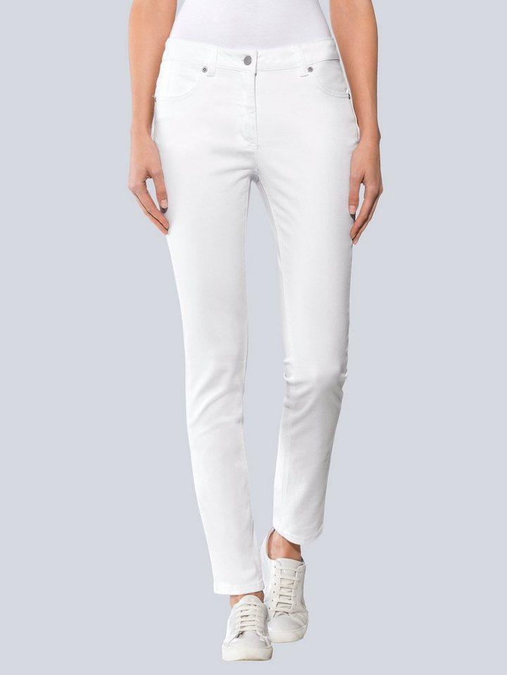 Alba Moda Push-up-Jeans in weiß