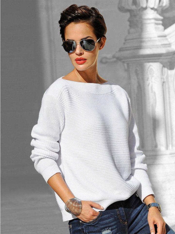 Alba Moda Pullover in weiß