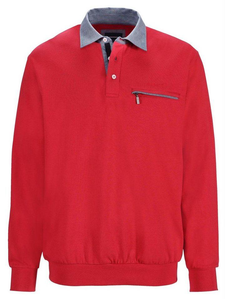 Babista Sweatshirt mit Hemdkragen in rot