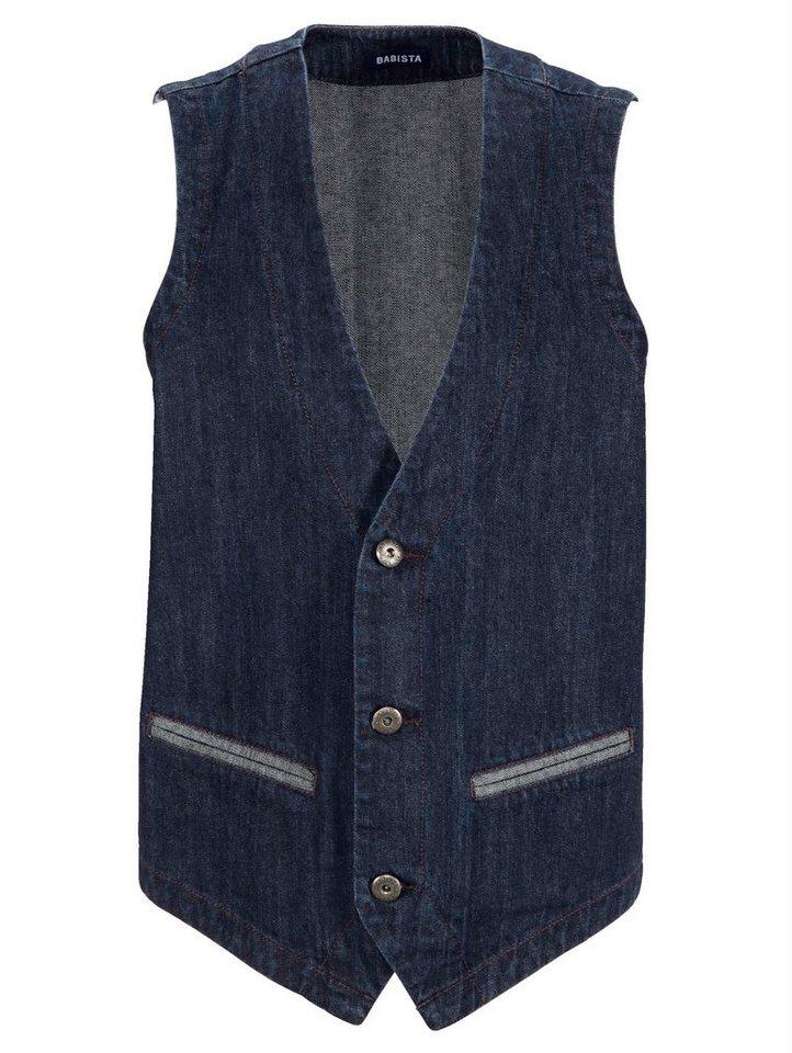 Babista Jeansweste in reiner Baumwolle in dunkelblau