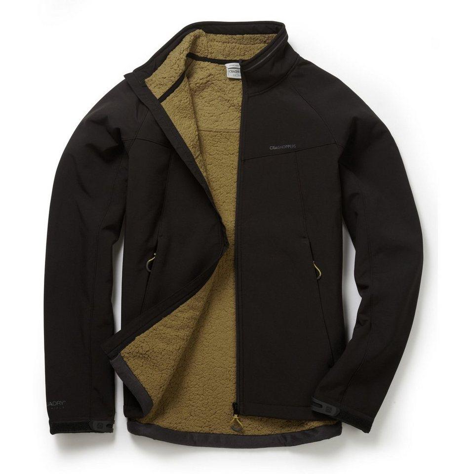 Craghoppers Softshell Jacke »Moorside« in Black/Dirty Olive