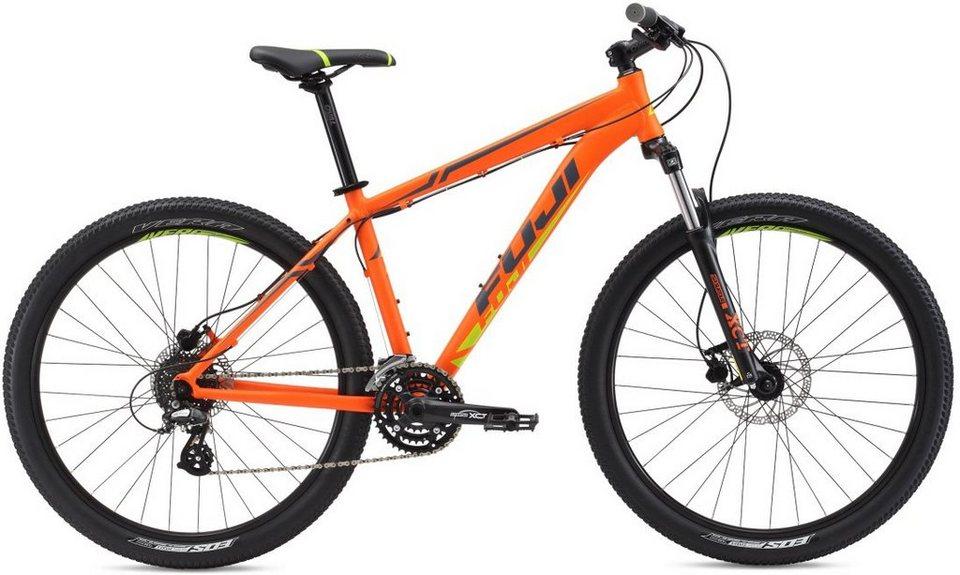 Fuji Herren Hardtail MTB, 27,5 Zoll, 24 Gang Shimano Altus Kettenschaltung, »NEVADA 3.0 LTD« in Orange-Citrus-Grau