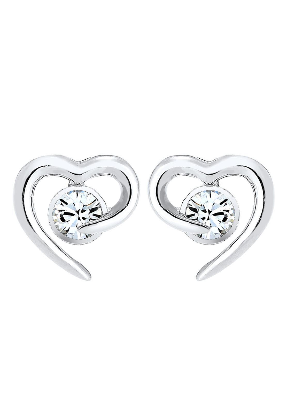 Elli Paar Ohrstecker »Herz, 0306241016« mit Swarovski® Kristall