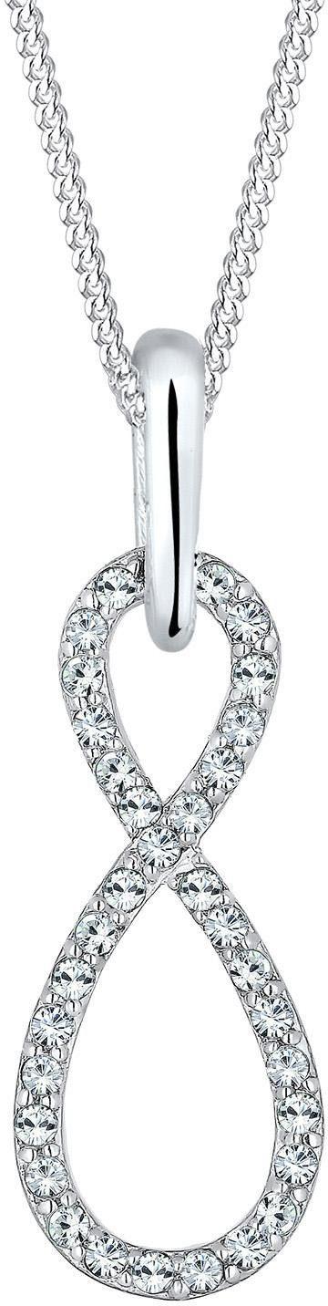 Elli Kette mit Anhänger »Infinity Unendlichkeit, 110470115« mit Swarovski® Kristallen