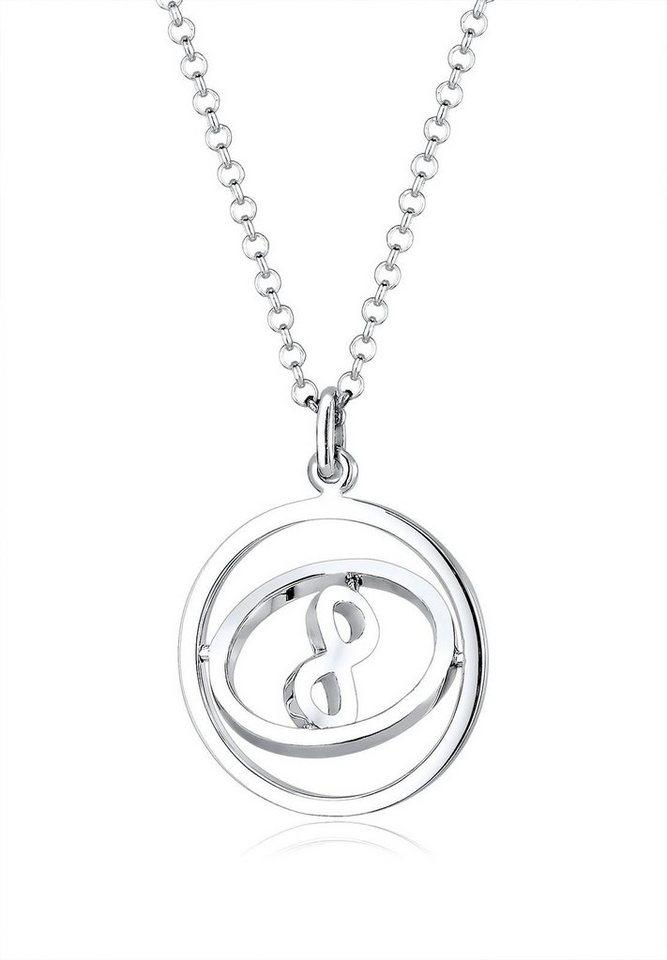Elli Kette mit Anhänger »Infinity Unendlichkeit rotierend, 0105921016« in Silber 925