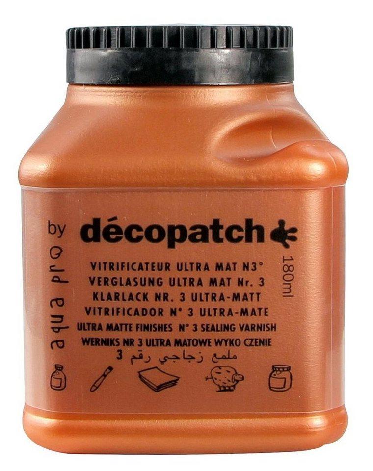 """décopatch Aquapro-Klarlack """"Ultra Matt, 180 ml"""