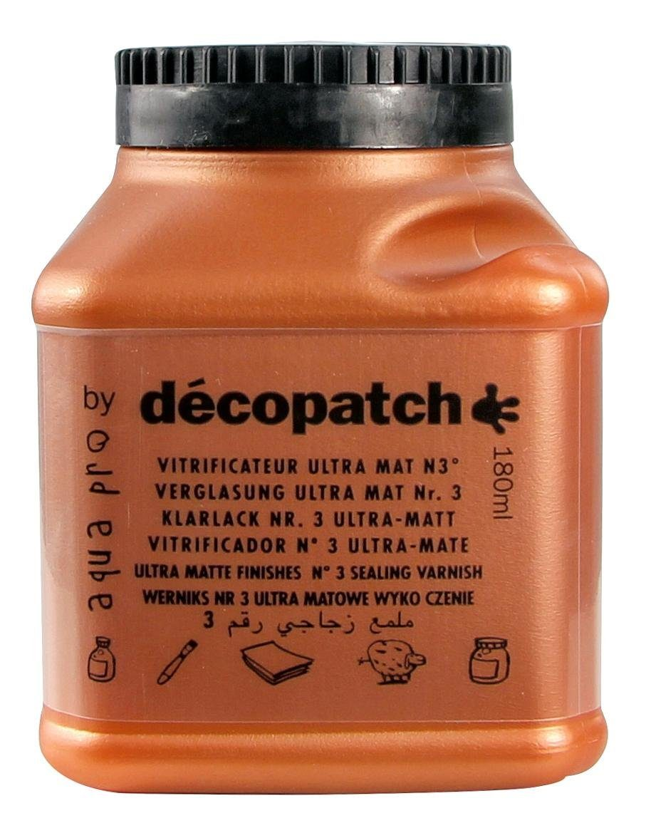 "décopatch Aquapro-Klarlack ""Ultra Matt, 180 ml"