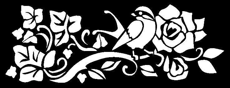Stamperia Schablone, Blumenornament