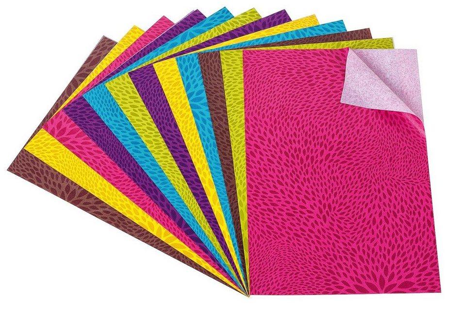 "Décopatch Papierset ""Farbsprenkel"", 12 Blatt"