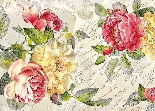 "Renkalik Motiv-Strohseide ""Romantische Rosen"""