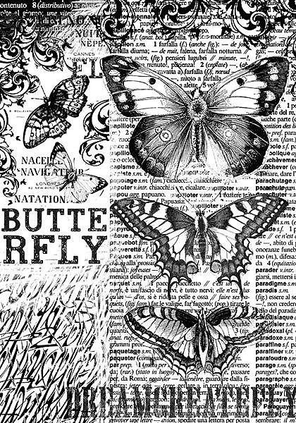 "Stamperia Motiv-Strohseide ""Butterfly Dream"""