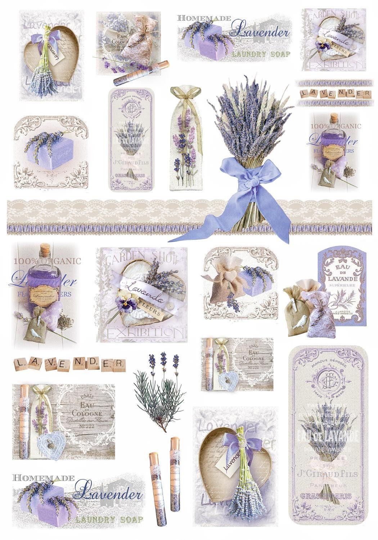 "Renkalik Motiv-Strohseide ""Lavendel"""