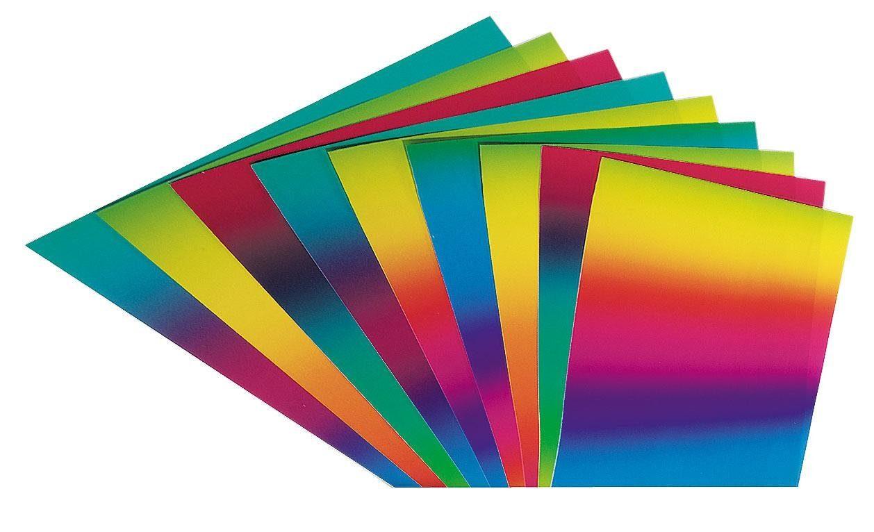Folia Regenbogen Tonkarton