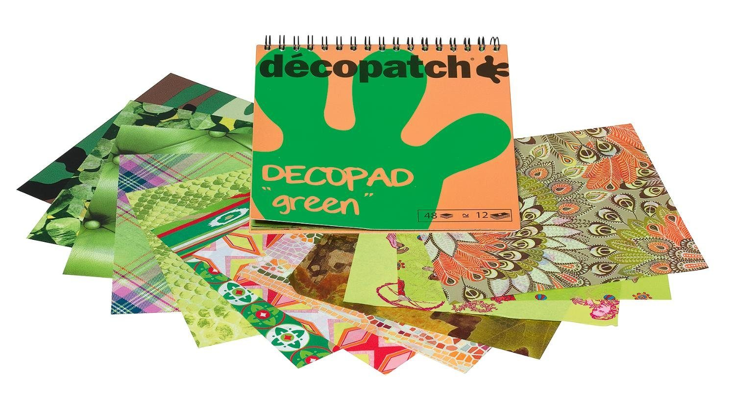"décopatch Papierblock ""Decopad Green"""