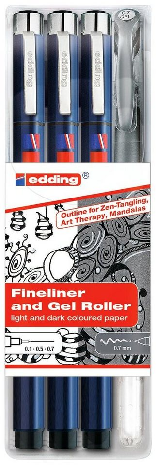 edding Tangle Outline-Set, 4tlg.