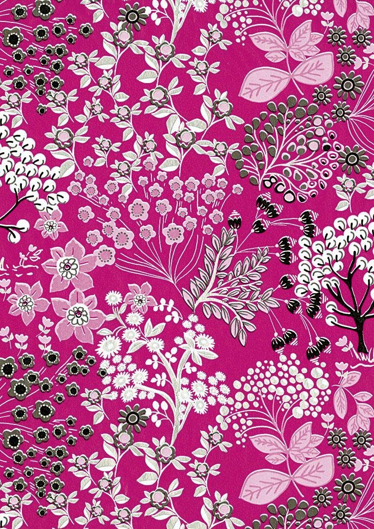 "décopatch Papier ""Blüten auf Pink"""