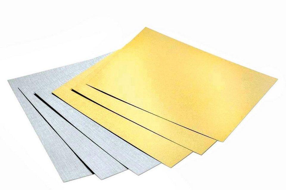 Folia Fotokarton-Block Gold/Silber matt, DIN A4