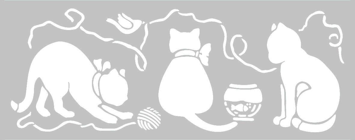 Stamperia Schablone, Katzen