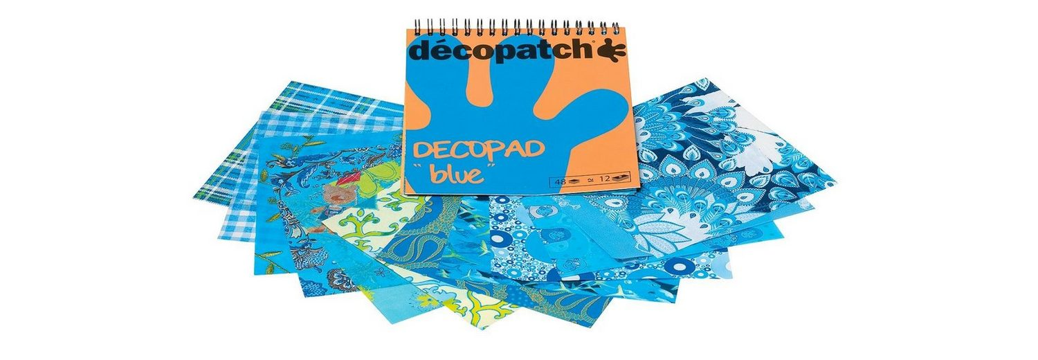 "décopatch Papierblock ""Decopad Blue"""