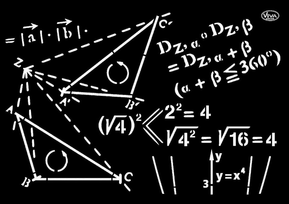 "Viva Decor Schablone ""Mathematik"""