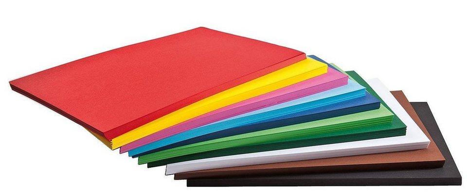 Folia 500 Blatt Tonkarton, farbig sort., DIN A4, Großhandelspackung