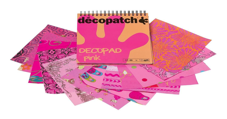 """décopatch Papierblock """"Decopad Pink"""""""