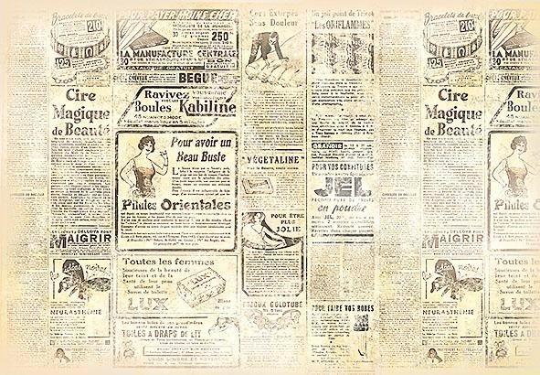 "Stamperia Motiv-Strohseide ""Journal"""
