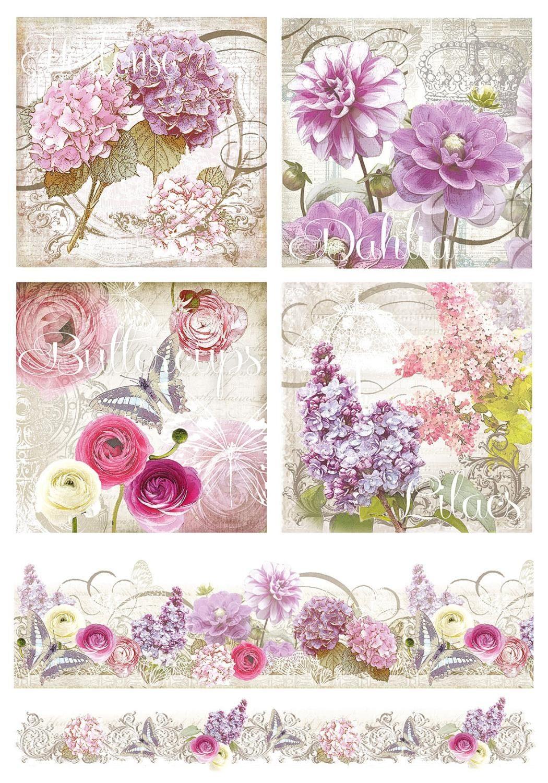 Renkalik Motiv-Strohseide Blumen