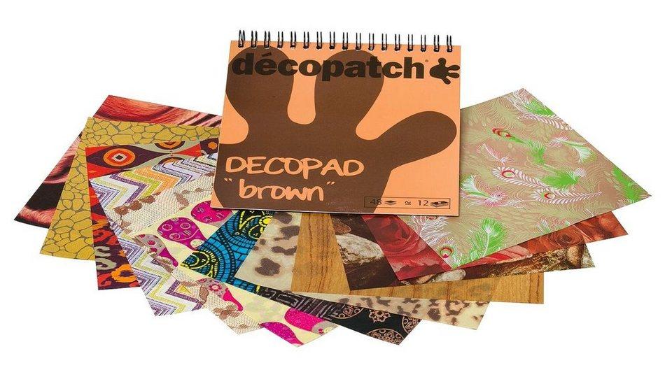 """décopatch Papierblock """"Decopad Brown"""""""