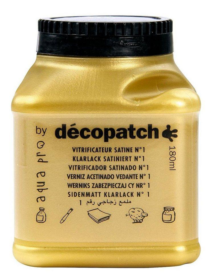 "décopatch Aquapro-Klarlack "" Seidenmatt"", 180 ml"
