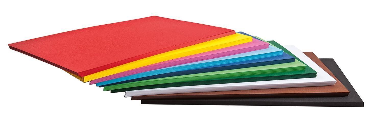 Folia 125 Blatt Tonkarton, farbig sort., DIN A2, Großhandelspackung