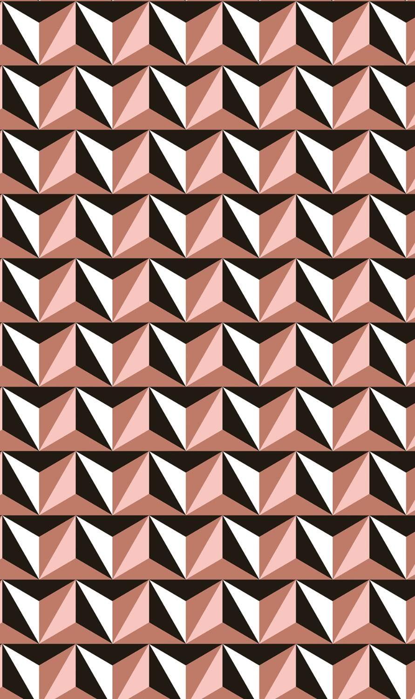 """décopatch Papier """"Geometric Kupfer"""""""