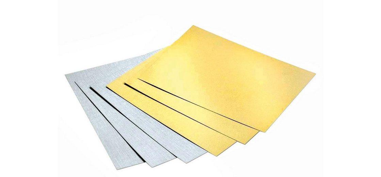 Folia Tonpapier-Block Gold/Silber matt, DIN A4