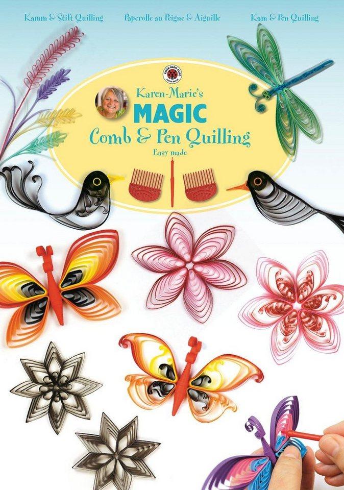 """Karen Marie Klip Karen Marie Heft """"Magic Comb & Pen Quilling"""""""