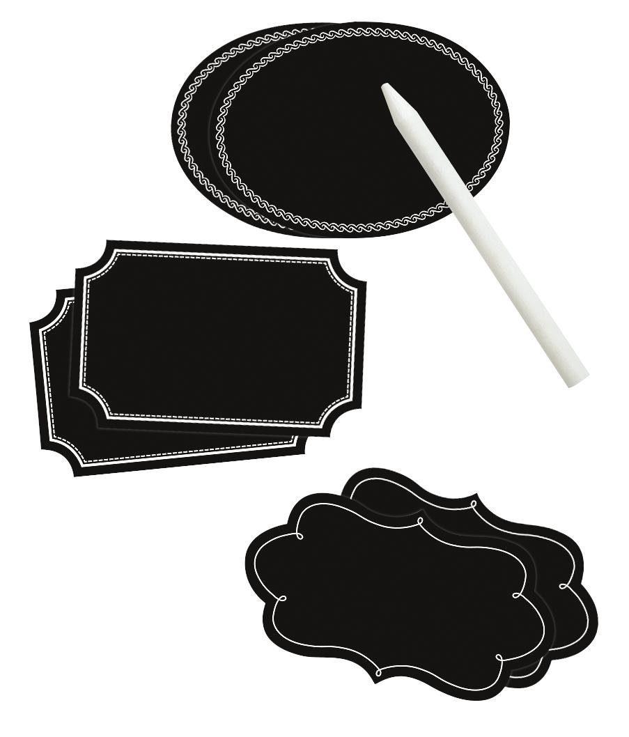 Folia Tafelfolien-Etiketten mit Specksteinstift