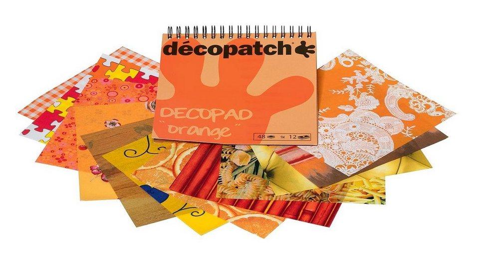 """décopatch Papierblock """"Decopad Orange"""""""